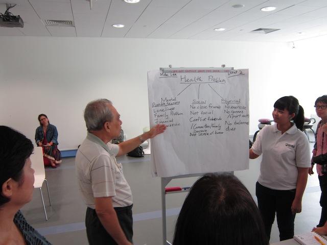 Youths teach seniors health management