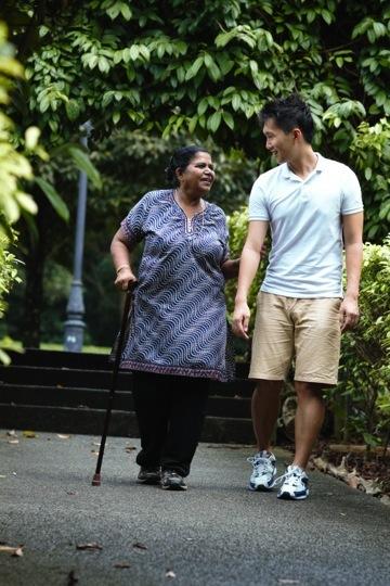 Ad-hoc help for fragile elderly