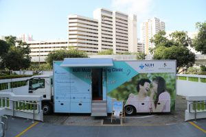 A mobile hearing clinic.