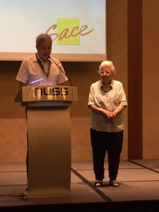 During the symposium, Ann Wee, who will be 90 soon, was conferred with the Third Ager of the Year award by U3A.