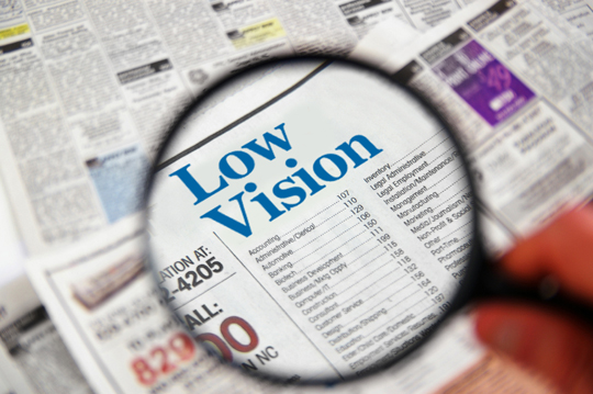 Navigating with low-vision