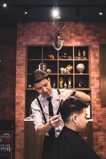 Nostalgic English barbershop