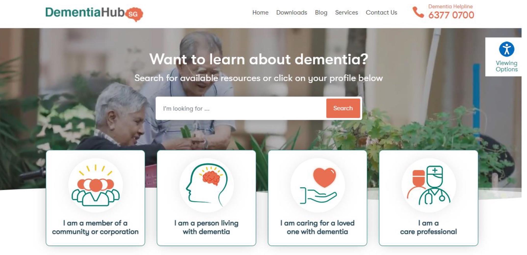 One-stop resource portal on dementia
